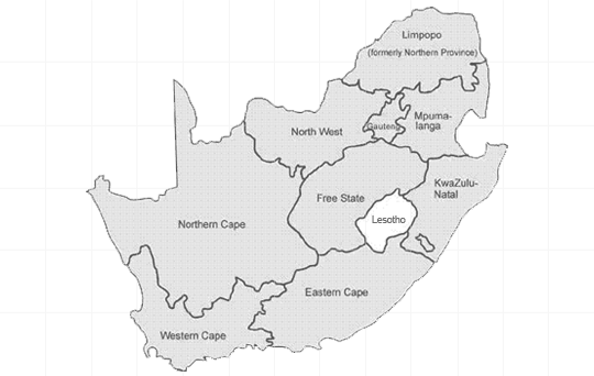 Destinations in South Africa